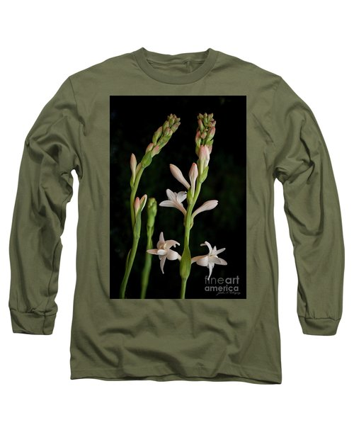 Double Tuberose In Bloom #2 Long Sleeve T-Shirt