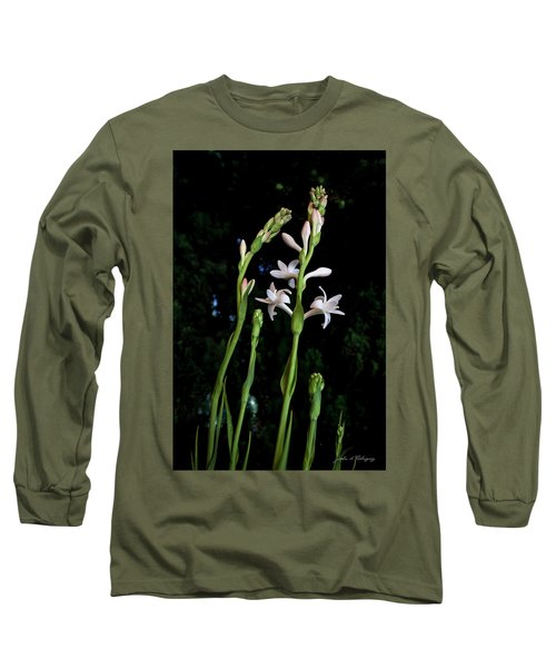 Double Tuberose In Bloom Long Sleeve T-Shirt