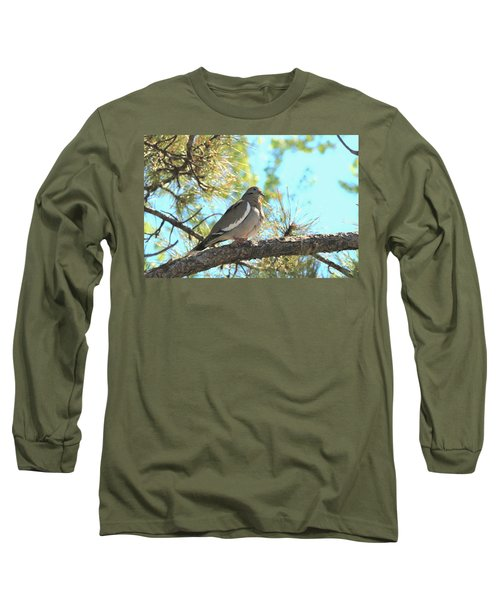 Dove In Pine Tree Long Sleeve T-Shirt