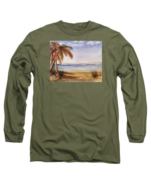 Down By The Sea Long Sleeve T-Shirt by Heidi Patricio-Nadon