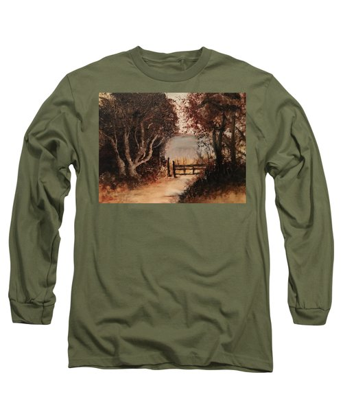 Down The Path Long Sleeve T-Shirt by Sharon Schultz