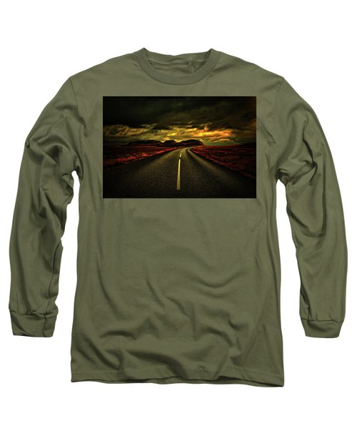 Long Sleeve T-Shirt featuring the photograph Down The Road by Scott Mahon