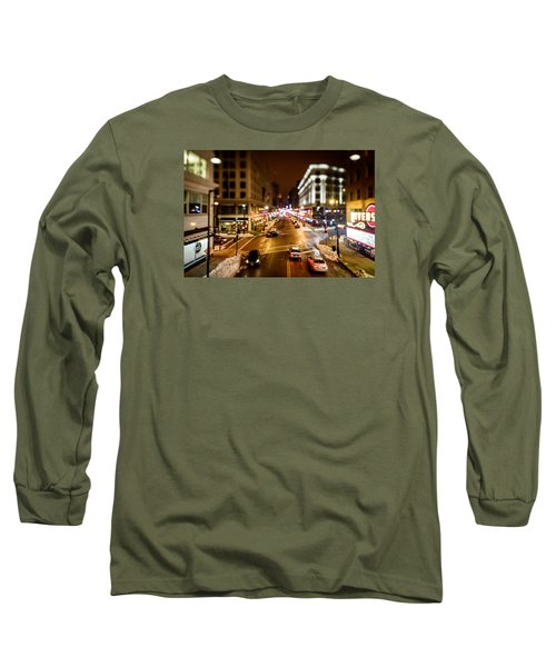 Downtown In The Itty-bitty City Long Sleeve T-Shirt