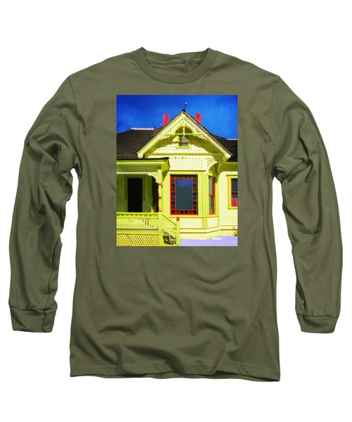 Long Sleeve T-Shirt featuring the photograph Dr. Clark's House 2 by Timothy Bulone