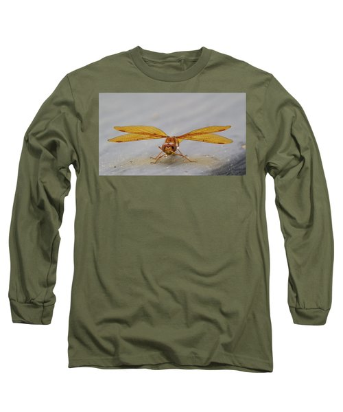 Dragon Fly Hanging Around Long Sleeve T-Shirt