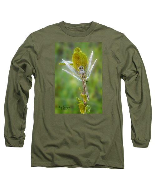 Dragon Fly In The Dew Long Sleeve T-Shirt