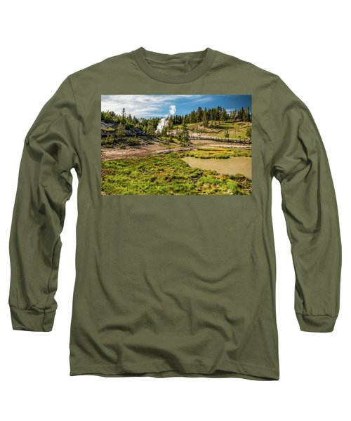 Dragon Geyser At Yellowstone Long Sleeve T-Shirt