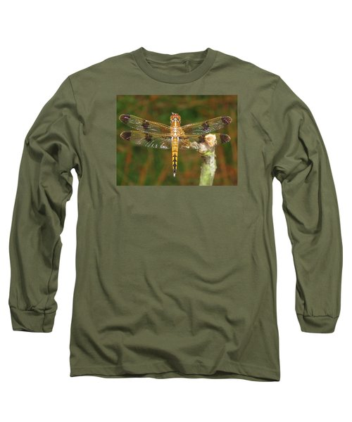 Long Sleeve T-Shirt featuring the photograph Painted Skimmer Dragonfly by Phyllis Beiser
