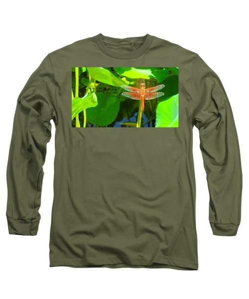 Dragonfly Long Sleeve T-Shirt by Mark Barclay