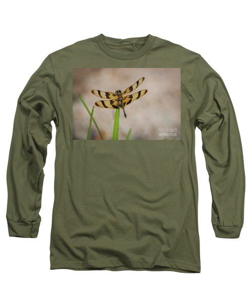Dragonfly On Grass Long Sleeve T-Shirt