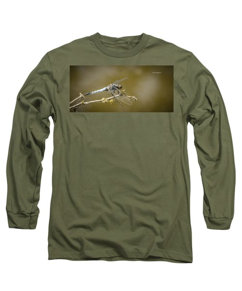Long Sleeve T-Shirt featuring the photograph Dragonfly On The Spot by Stwayne Keubrick
