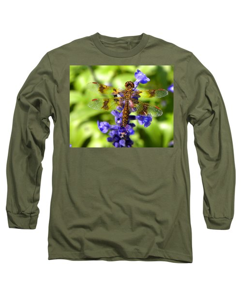 Long Sleeve T-Shirt featuring the photograph Dragonfly by Sandi OReilly