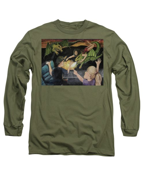 Dragons From The Train Long Sleeve T-Shirt