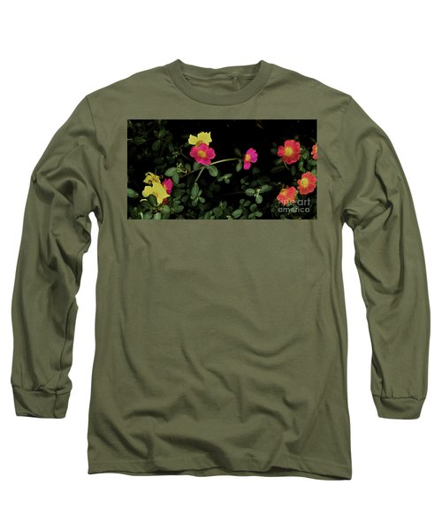 Dramatic Colorful Flowers Long Sleeve T-Shirt