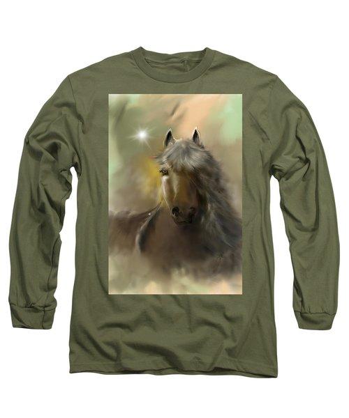 Long Sleeve T-Shirt featuring the digital art Dream Horse by Darren Cannell
