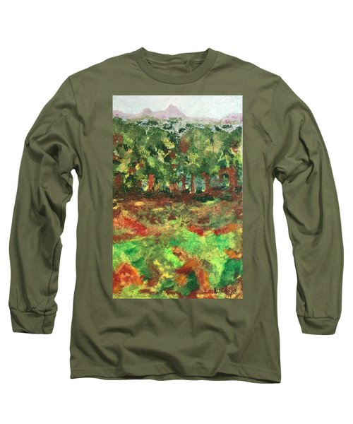 Long Sleeve T-Shirt featuring the painting Dream In Green by Norma Duch