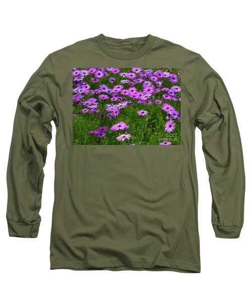 Dreaming Of Purple Daisies  Long Sleeve T-Shirt