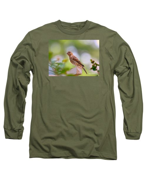 Long Sleeve T-Shirt featuring the photograph Dreamy Finch by Lisa L Silva
