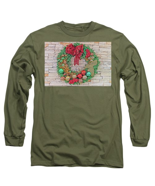Dreamy Holiday Wreath Long Sleeve T-Shirt