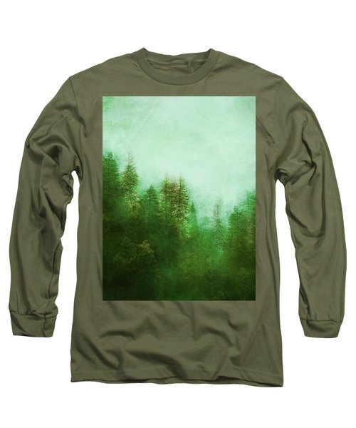 Long Sleeve T-Shirt featuring the digital art Dreamy Spring Forest by Klara Acel