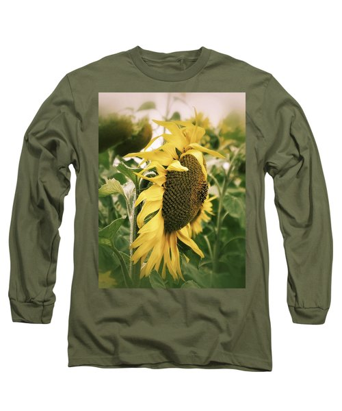 Long Sleeve T-Shirt featuring the photograph Dreamy Sunflower by Karen Stahlros