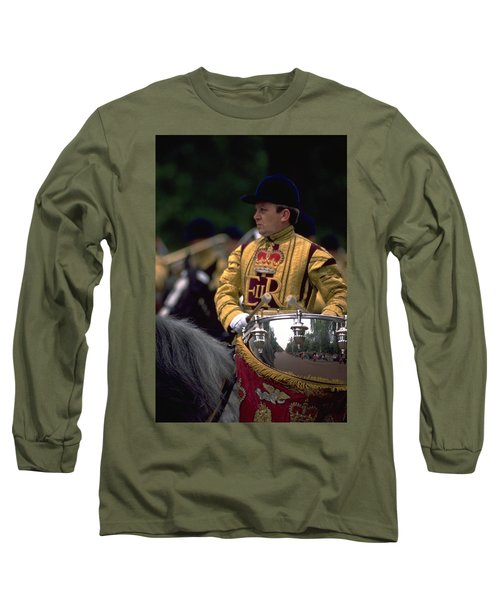 Drum Horse At Trooping The Colour Long Sleeve T-Shirt
