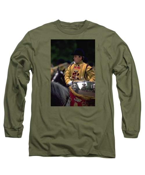 Long Sleeve T-Shirt featuring the photograph Drum Horse At Trooping The Colour by Travel Pics