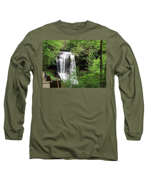 Long Sleeve T-Shirt featuring the photograph Dry Falls In The Spring by Cathy Harper
