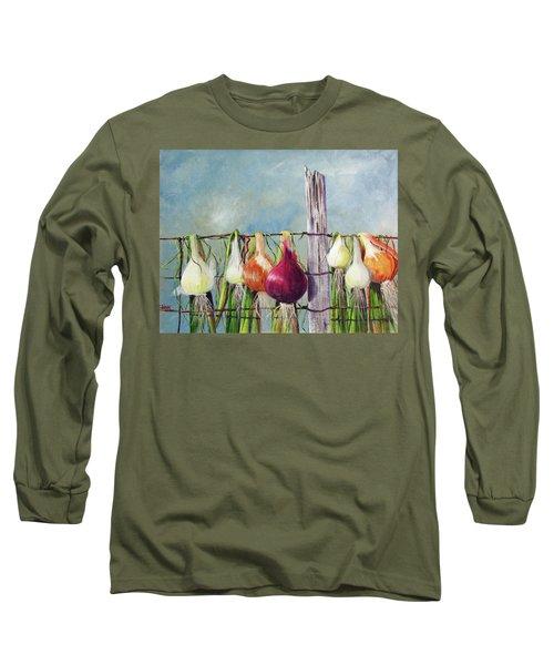 Drying Onions Long Sleeve T-Shirt