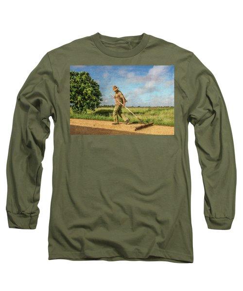 Drying Rice Long Sleeve T-Shirt