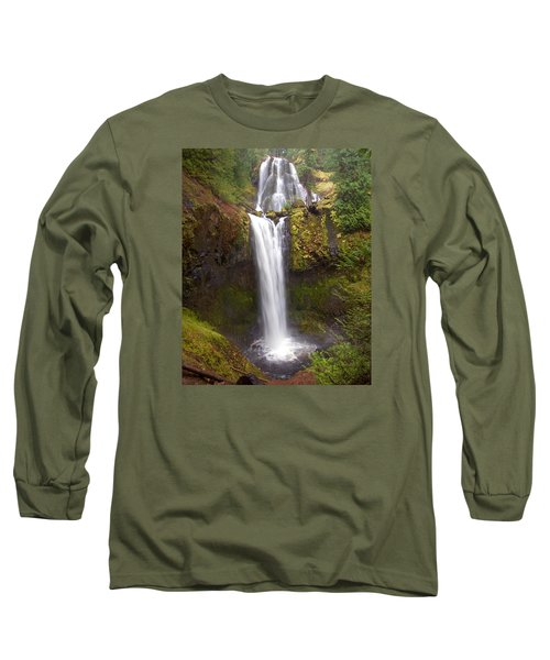 Dual Cascade Long Sleeve T-Shirt