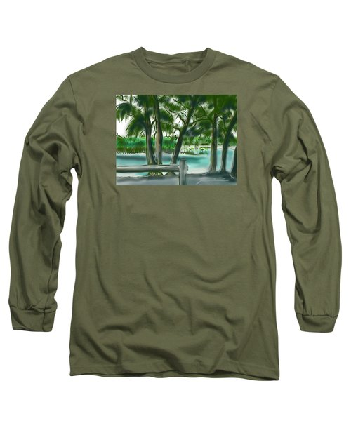 Long Sleeve T-Shirt featuring the painting Dubois Park Lagoon by Jean Pacheco Ravinski