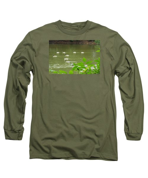 Long Sleeve T-Shirt featuring the photograph Duck Nation  by Jake Hartz