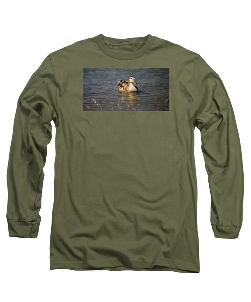 Duck On Lake Long Sleeve T-Shirt