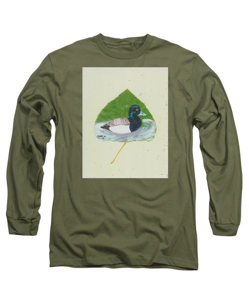 Duck On Pond #2 Long Sleeve T-Shirt by Ralph Root