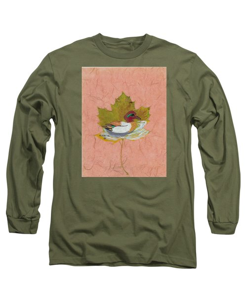 Duck On Pond Long Sleeve T-Shirt by Ralph Root