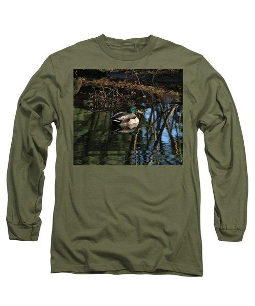 Duck Resting Long Sleeve T-Shirt by John Rossman