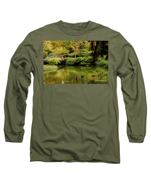 Long Sleeve T-Shirt featuring the photograph Ducks In Summertime by Iris Greenwell