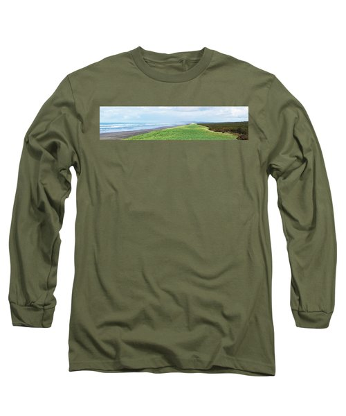 Dune At Fort Stevens Long Sleeve T-Shirt by Angi Parks