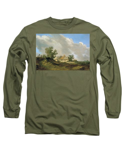 Dune Landscape With Cottage And Figures Long Sleeve T-Shirt