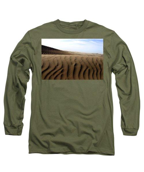 Dunes Of Alaska Long Sleeve T-Shirt by Anthony Jones