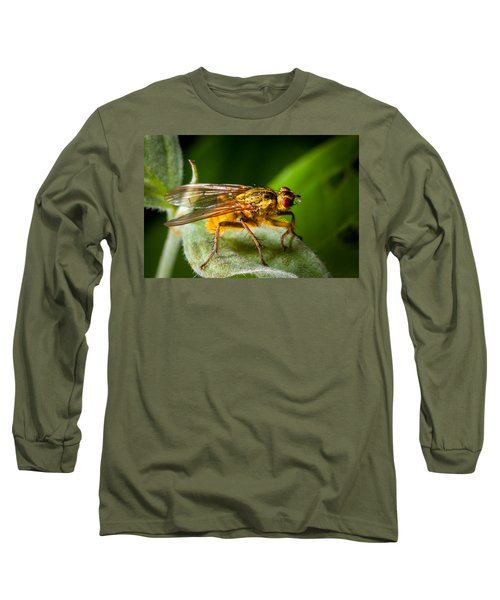 Dung Fly On Leaf Long Sleeve T-Shirt