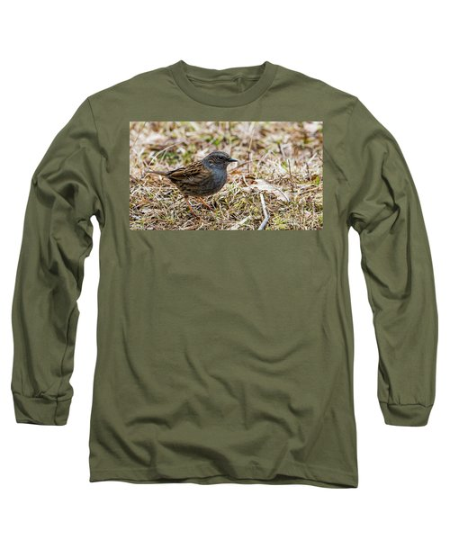 Dunnock Long Sleeve T-Shirt by Torbjorn Swenelius