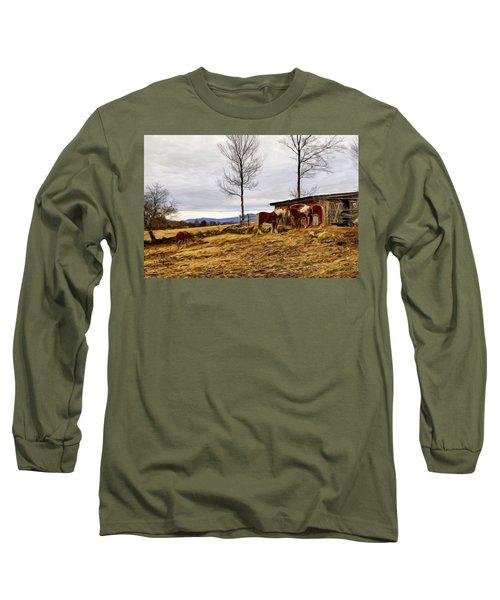 Dusk Feeding On The Farm Long Sleeve T-Shirt