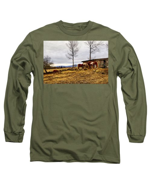 Dusk Feeding On The Farm Long Sleeve T-Shirt