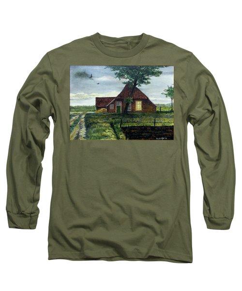 Dutch Farm At Dusk Long Sleeve T-Shirt