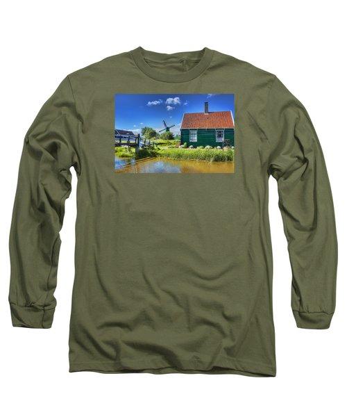 Dutch Village Long Sleeve T-Shirt by Nadia Sanowar
