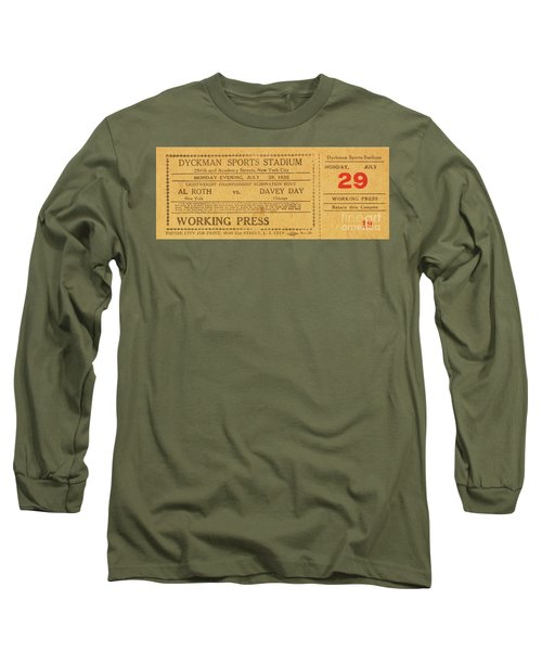 Long Sleeve T-Shirt featuring the photograph Dyckman Oval Ticket by Cole Thompson