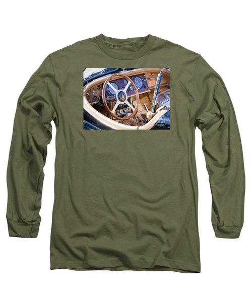 E-type Jaguar Dashboard Long Sleeve T-Shirt by Chris Dutton