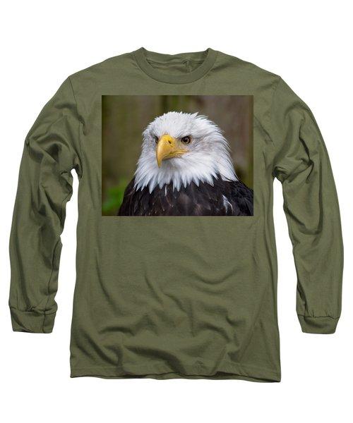 Eagle In Ketchikan Alaska Long Sleeve T-Shirt by Michael Bessler